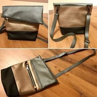 Makerist - schicke Fold-over Mini aus Kunstleder - 1