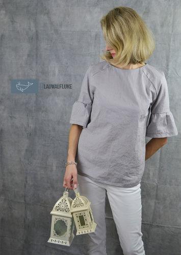 Makerist - Bluse Adelheid von Schneidernmeistern als Kurzarmversion - Nähprojekte - 1