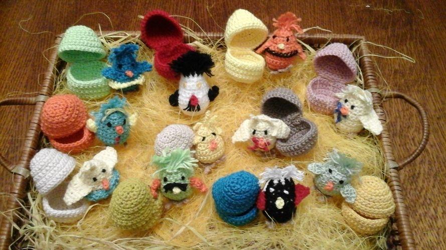 Makerist - Oeufs et poussins pour décorer la table de pâques  - Créations de crochet - 2