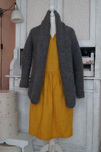 Makerist - Strickjacken für Einsteiger - Cardigan mit Perlmuster stricken von Nina Schweisgut - Strickprojekte - 2