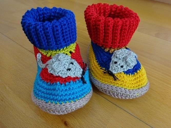 Makerist - Lustige Baby-/Kinderhausschuhe  - Häkelprojekte - 1