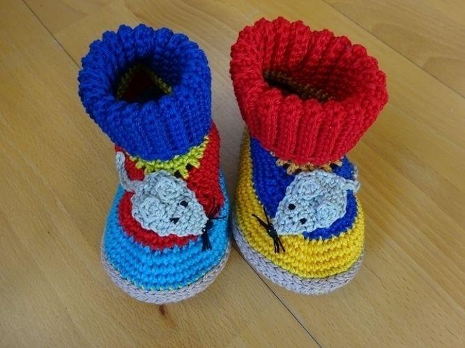 Makerist - Lustige Baby-/Kinderhausschuhe  - Häkelprojekte - 2