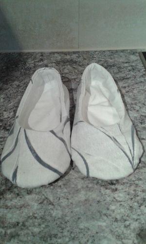 Makerist - Ballerinas Weiß-Blau - Nähprojekte - 1