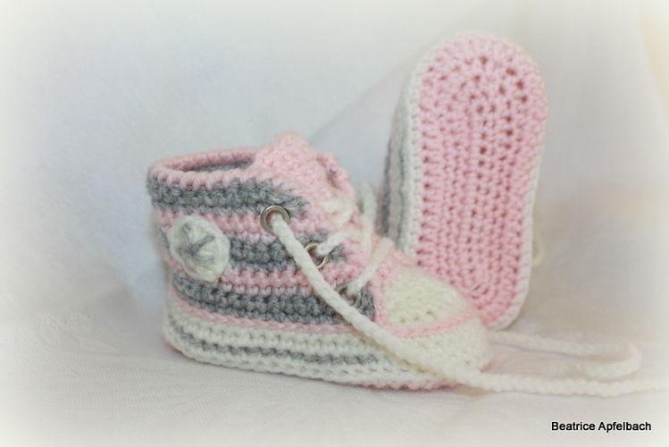 "Makerist - Sneakers""Girly"" - Häkelprojekte - 1"