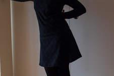 """Makerist - Hübsches Kleid aus schwarzem Bio Single Jersey """"Pusteblume""""... auch für mich.. - 1"""
