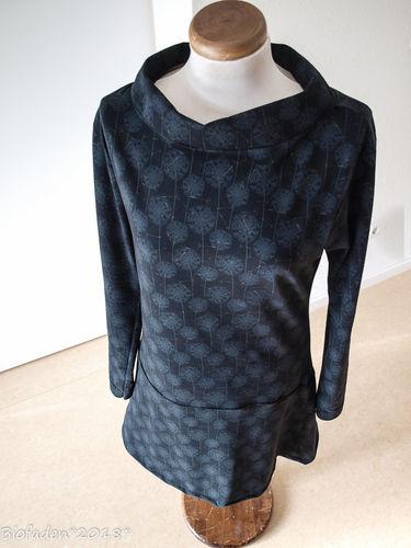 """Makerist - Hübsches Kleid aus schwarzem Bio Single Jersey """"Pusteblume""""... auch für mich.. - Nähprojekte - 2"""