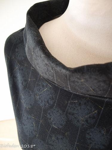 """Makerist - Hübsches Kleid aus schwarzem Bio Single Jersey """"Pusteblume""""... auch für mich.. - Nähprojekte - 3"""