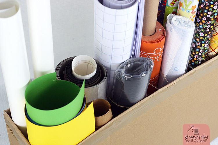 Makerist - Rollenhalter aus Versandkarton - DIY-Projekte - 2