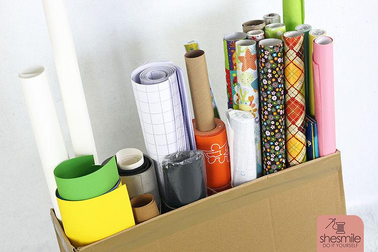 Makerist - Rollenhalter aus Versandkarton - DIY-Projekte - 3