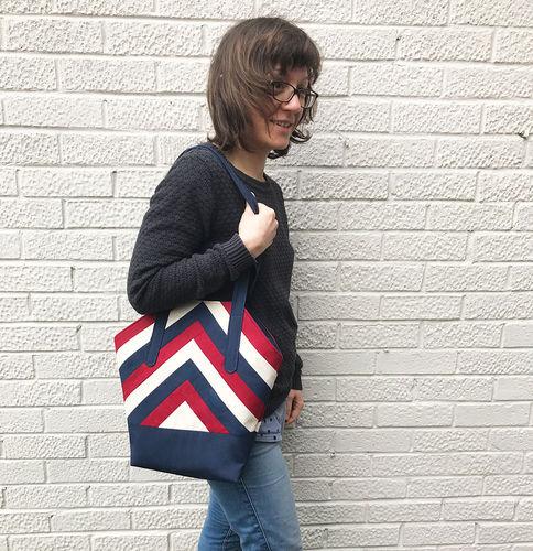 Makerist - Handbag in Patchwork look - Sewing Showcase - 1
