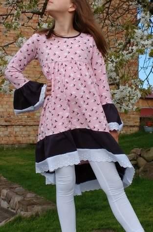 Makerist - Tunika Valessia in Kleiderlänge von Schnittgeflüster aus Jersey, Gr. 152 - 1