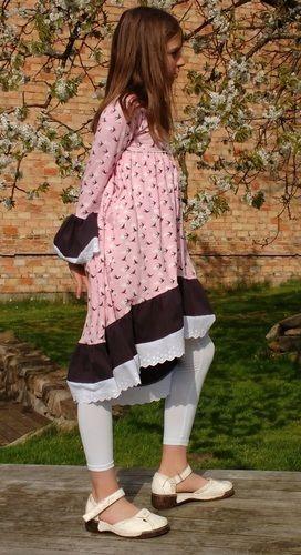 Makerist - Tunika Valessia in Kleiderlänge von Schnittgeflüster aus Jersey, Gr. 152 - Nähprojekte - 2