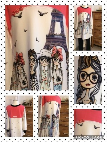 Makerist - Auf nach Paris ✈️ Aus Jersey 👗für meine Enkelin Mila 5  Jahre alt  - Nähprojekte - 1