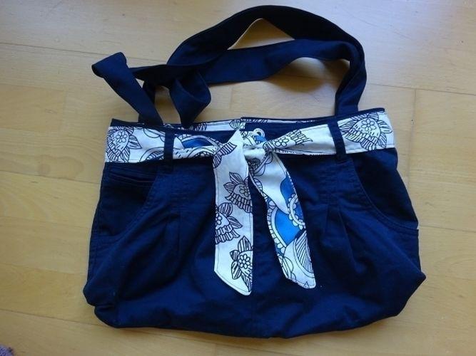 Makerist - Handtasche aus einer ausgedienten Hose - Nähprojekte - 1
