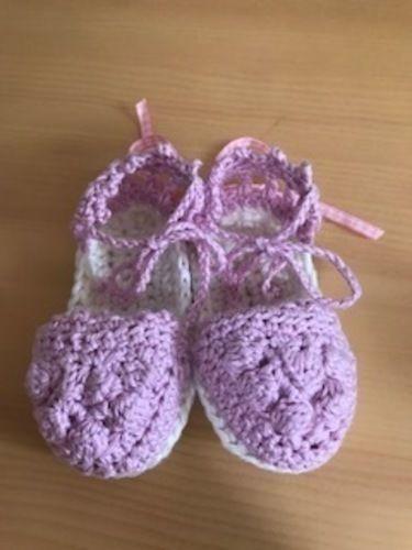 Makerist - Babyespandrilles / Mädchen - Häkelprojekte - 2