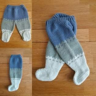 Makerist - Pantalon Tricolor 0/3mois au crochet - 1