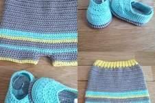 Makerist - Ensemble short chaussons 0/3 mois - 1