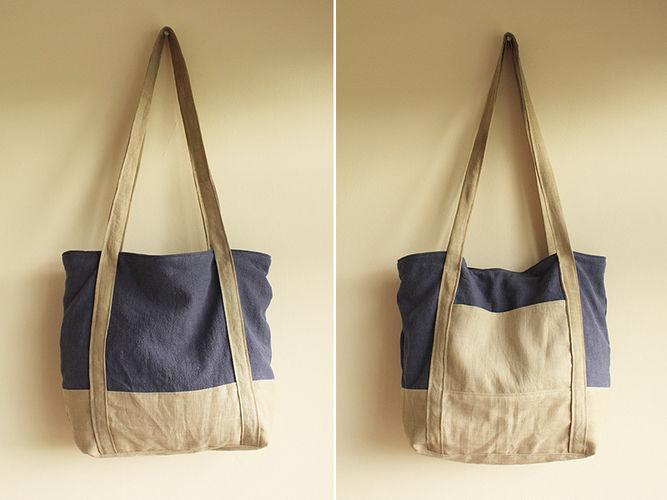 """Makerist - Handtasche """"Svea"""" aus Leinen und Ramie - Nähprojekte - 1"""