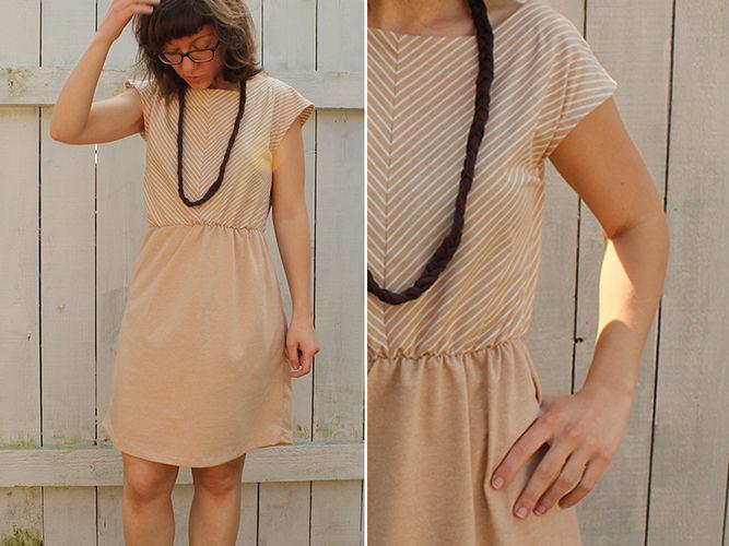 Makerist - Sommerkleid mit Schrägstreifen - Nähprojekte - 1