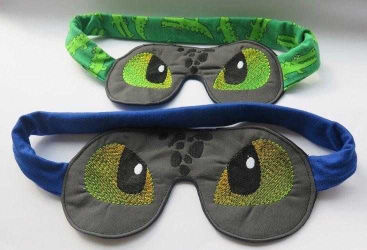 Makerist - Dinoschlafbrillen für Mutter und Sohn - Textilgestaltung - 1