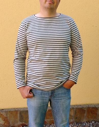 Makerist - Herren-Langarmshirt Matteo aus Streifen-Jersey - Nähprojekte - 1