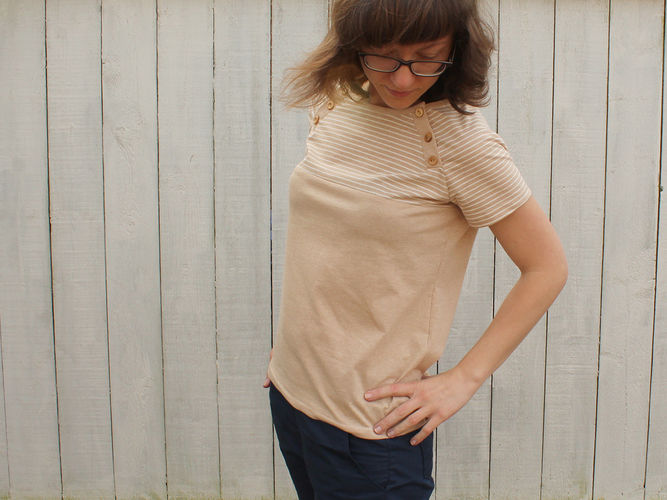 """Makerist - Shirt """"Lova"""" mit Unterteilung - Nähprojekte - 1"""