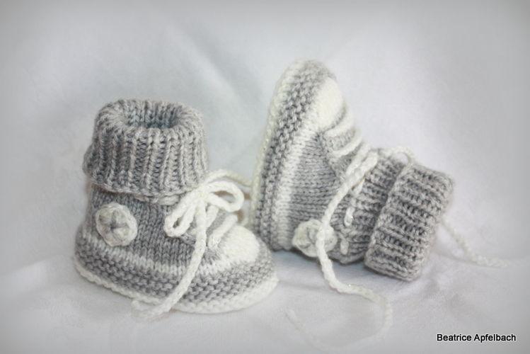 Makerist - Turnschuhe fürs Baby mit dezentem Glitzer - Strickprojekte - 1