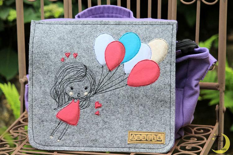 """Makerist - Kiga-Tasche """"Mädchen mit Luftballons"""" - Textilgestaltung - 2"""