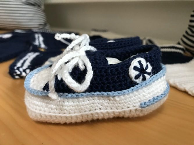 Makerist - Baby Chucks - Häkelprojekte - 1