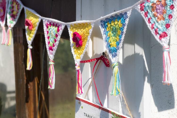 Makerist - Girlande für die Gartenlaube - Häkelprojekte - 2