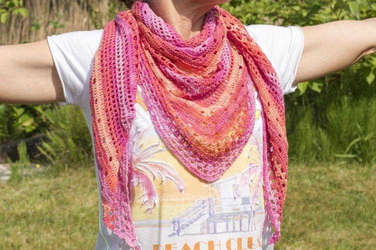 Makerist - Sommertuch aus leichtem Baumwollgarn - Häkelprojekte - 3