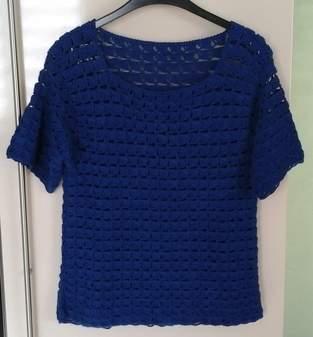 Makerist - Top d'été crocheté  en laine acrylique et elasthane - 1