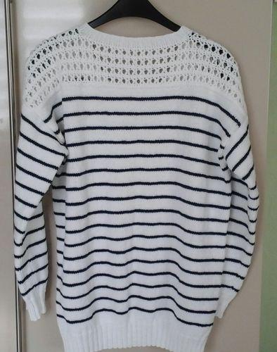 Makerist - Pull rayé  avec empiècement au crochet - Créations de tricot - 2