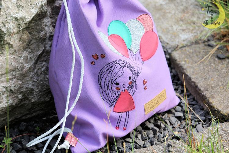 Makerist - Mädchen mit Luftballons - Textilgestaltung - 3