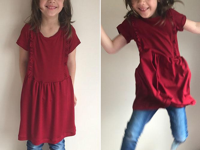 """Makerist - Kleid """"Mila"""" in rot - Nähprojekte - 1"""