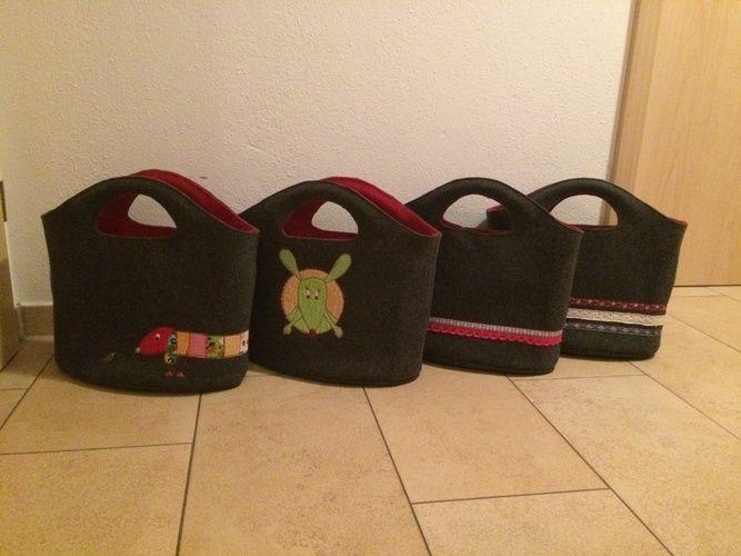 Makerist - Taschen aus Wollfilz mit Nähmalerei - Nähprojekte - 1