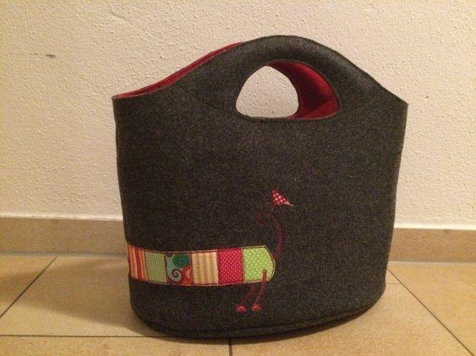 Makerist - Taschen aus Wollfilz mit Nähmalerei - Nähprojekte - 3