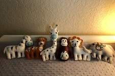 Makerist - Felt Jungle Babies from pattern by Tina Douville - 1
