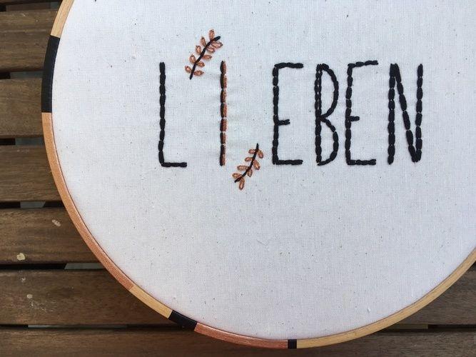 Makerist - Sticken // Lieben = Leben - DIY-Projekte - 2