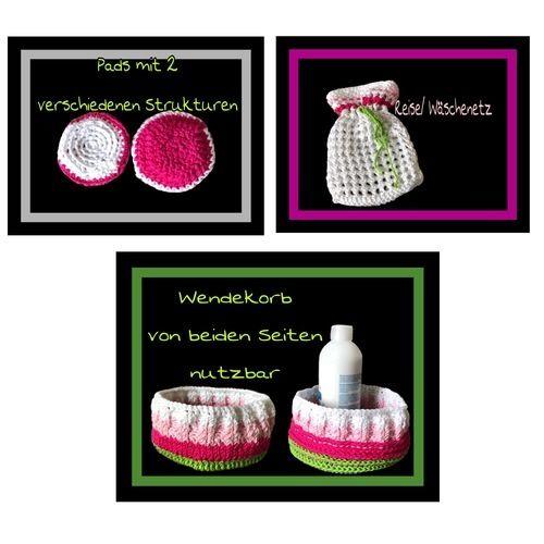 Makerist - Kosmetikset aus myboshi Lieblingsfarben No.2 - Häkelprojekte - 2