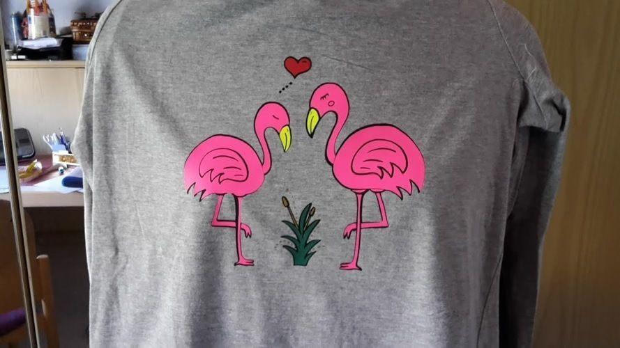 "Makerist - ""Flaminga&Flamingo""  geplottet von SIBELY ART - Textilgestaltung - 1"
