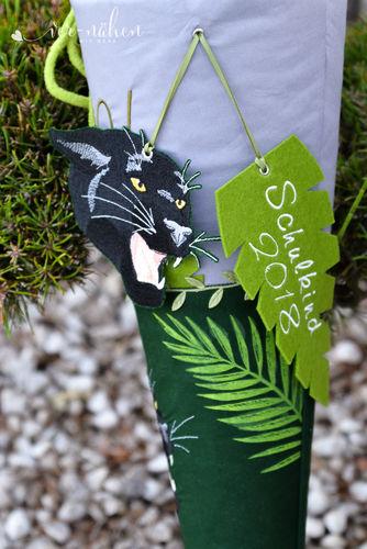 Makerist - Schultüte Panther mit Stickerei - Nähprojekte - 2