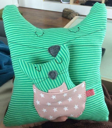 Makerist - Kuschelkissen Katze 2in1 - Nähprojekte - 1