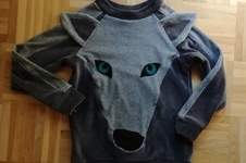 Makerist - Upcycling Pulli Gr. 116 Wolf - 1
