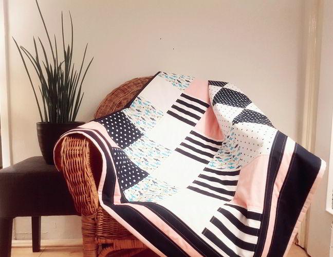 Makerist - Sunny Sea Feeling Patchworkdecke für Kinder - speziell für Geschwister oder Zwillinge - Patchwork-Projekte - 3