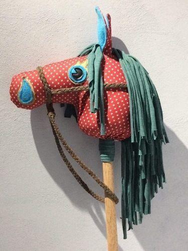 Makerist - Steckenpferd aus buntem Jeansstoff und Jersey  - Nähprojekte - 1