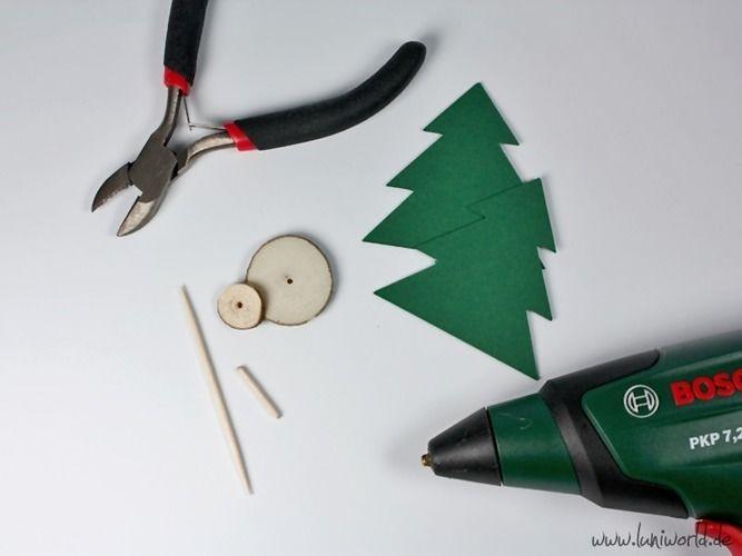 Makerist - Weihnachtliche Tischdeko mit Holzscheiben - DIY-Projekte - 3