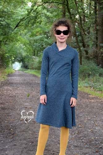 Makerist - Kleid Lykka Kids von Mamili1910 gab es bei uns in schlicht und aus Strick - Nähprojekte - 1