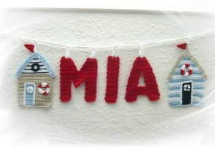 Makerist - Buchstaben-Girlande mit Strandhäuschen - 1
