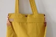 Makerist - Yello Bag aus Dry Oilskin und Kunstleder - 1